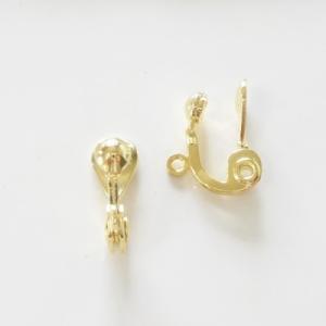 ハンドメイド材料 金属パーツ 耳が痛くなりにくいイヤリング金具 1ペア2個セット|poche-gold|02