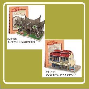 パズル 3D立体パズル World Style 東南アジア バースデー クリスマス ペーパークラフト...
