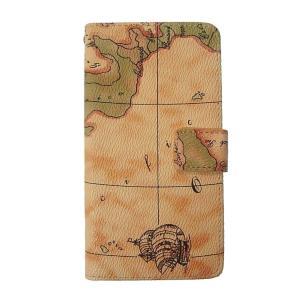 愛フォン - アンティーク調 世界地図柄 iPhone X ケース〈ベージュ〉