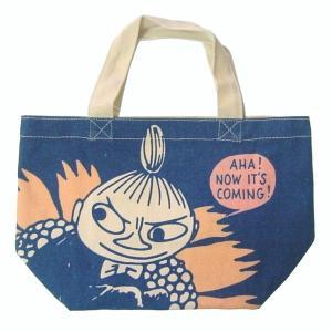 ★ムーミンキャラの人気者リトルミイがお花に乗っている帆布のミニトートです。 ★小ぶりで必需品を持ち歩...