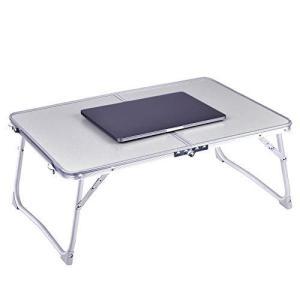 ノートパソコンテーブル RAINBEAN 折りたたみ式デスク ポータブルベッドテーブル 大きなデスク...