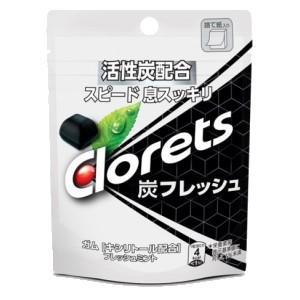モンデリーズジャパン 9粒クロレッツ炭フレッシュ パウチ 6袋入 pocket-cvs