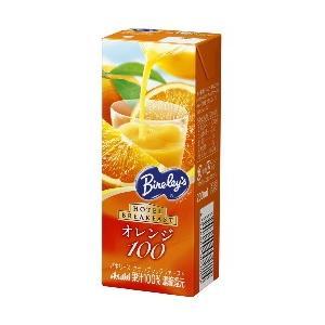 アサヒ Bireley's ホテルブレックファーストオレンジ100 200ml紙パック 24本入 (バヤリース 果汁飲料) pocket-cvs