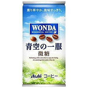 アサヒ WONDAワンダ 青空の一服 微糖 185g缶 30本入 (缶コーヒー 微糖)