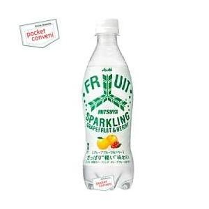 アサヒ 三ツ矢微糖スパークリング グレープフルーツ&ベリー 460mlペットボトル 24本入|pocket-cvs