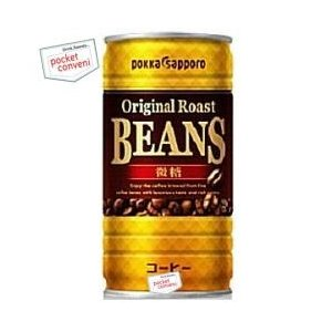 ポッカサッポロ BEANS(ビーンズ)微糖 185g缶 30本入 (缶コーヒー)