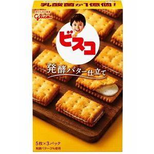 グリコ 15枚ビスコ 発酵バター仕立て 10箱入|pocket-cvs
