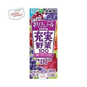 伊藤園 充実野菜 ブルーベリーミックス 200ml紙パック 24本入 (野菜ジュース)|pocket-cvs
