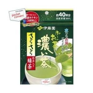 伊藤園 お〜いお茶 濃い茶 さらさら抹茶入り緑茶 32g×6袋入 ( おーいお茶 緑茶 パウダー 約40杯分)|pocket-cvs