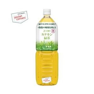 1500mlサイズ 伊藤園 2つの働き カテキン緑茶 1.5Lペットボトル 8本入  (特定保健用食品)|pocket-cvs