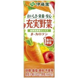 伊藤園 充実野菜 緑黄色野菜ミックス 200ml紙パック 24本入 (野菜ジュース)