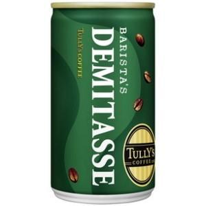 伊藤園 TULLY'S COFFEE BARISTA'S DEMITASSE 165g缶 30本入 (バリスタズデミタス タリーズコーヒー 缶コーヒー)|pocket-cvs