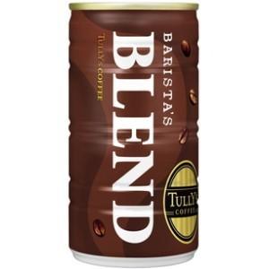 伊藤園 TULLY'S COFFEE THE BARISTA'S BLEND 180g缶 30本入 (バリスタズブレンド タリーズコーヒー 缶コーヒー)|pocket-cvs
