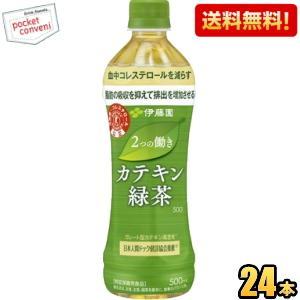 『送料無料』伊藤園 2つの働き カテキン緑茶 500mlペットボトル 24本入 特保 トクホ 特定保健用食品|pocket-cvs