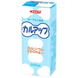 エルビー カルアップ 200ml紙パック 24本入 (カルシウム250mg入り)|pocket-cvs