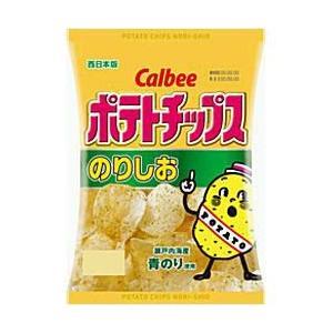 カルビー 60gポテトチップス のりしお 12袋入 (スナック菓子) pocket-cvs