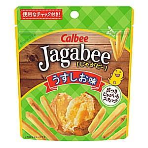 カルビー 40gJagabee(じゃがビー) うすしお味(スタンドパウチ) 12袋入(ジャガビー)|pocket-cvs