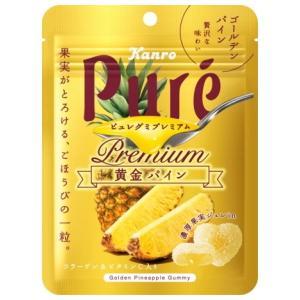 カンロ 63gピュレグミプレミアム 黄金パイン 6袋入|pocket-cvs