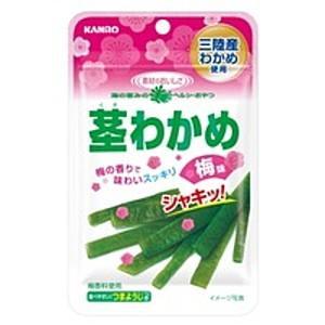 カンロ 22g茎わかめ 梅味 6袋入 pocket-cvs