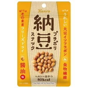 カンロ 20gプチポリ納豆スナック 醤油味 10袋入|pocket-cvs