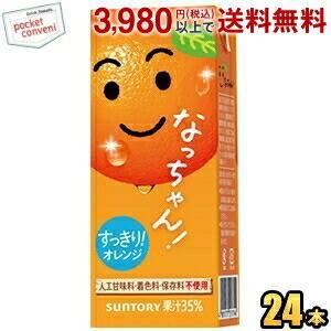 サントリー なっちゃん オレンジ 250ml紙パック 24本入 (果汁飲料)|pocket-cvs
