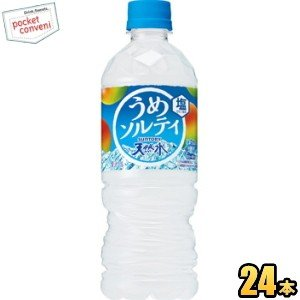 サントリー 天然水 うめソルティ 540mlペットボトル 24本入 (梅ソルティ ミネラルウォーター 水 フレーバーウォーター 熱中症対策)|pocket-cvs