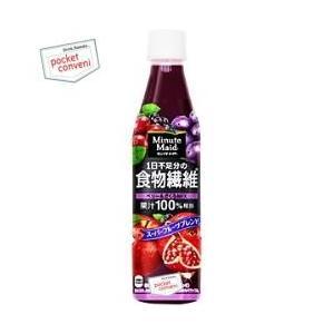 コカ・コーラ ミニッツメイド 1日不足分の食物繊維 350mlペットボトル 24本入 (コカコーラ 果汁100%) pocket-cvs