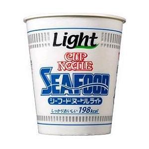 日清 57gカップヌードル シーフードヌードル Lightライト 12食入 (インスタント食品)|pocket-cvs