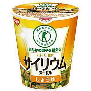 日清 サイリウムヌードル しょうゆ味 48g×12食入 (おなかの調子を整える) (特保 トクホ 特定保健用食品)