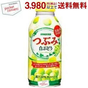 サンガリア つぶみ白ぶどう 380gボトル缶 24本入|pocket-cvs