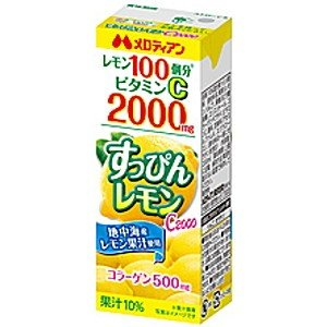 メロディアン すっぴんレモン C2000 200ml紙パック 24本入|pocket-cvs