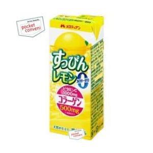 メロディアン すっぴんレモン カロリーゼロ 200ml紙パック 24本入