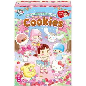 不二家 8枚ペコ×サンリオキャラクターズクッキー 6箱入|pocket-cvs