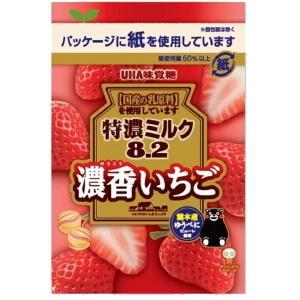 味覚糖 84g特濃ミルク8.2 苺ミルク 6袋入