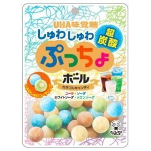 味覚糖 50gぷっちょボール しゅわしゅわ炭酸アソート 6袋入|pocket-cvs