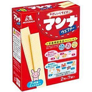 森永製菓 14枚(2枚×7袋)マンナウェファー 6箱入|pocket-cvs