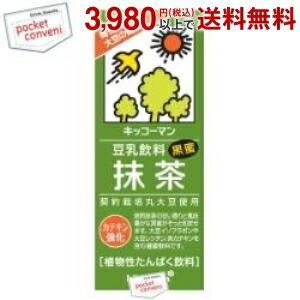 キッコーマン 豆乳飲料 抹茶 200ml紙パック 18本入 (豆乳飲料)|pocket-cvs