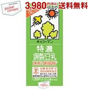 キッコーマン 特濃(とくのう)調製豆乳 1000ml紙パック 12本入(6本×2) (豆乳飲料 特定保健用食品)|pocket-cvs
