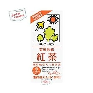 キッコーマン 豆乳飲料 紅茶 1000ml紙パック 12本入(6本×2) (豆乳飲料)|pocket-cvs