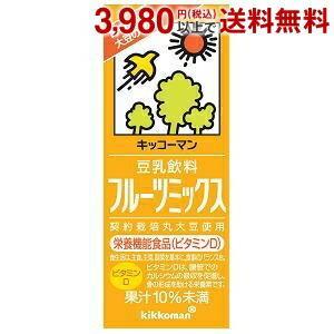 キッコーマン 豆乳飲料フルーツミックス 200ml紙パック 18本入 (豆乳飲料)|pocket-cvs