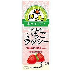 キッコーマン飲料 豆乳飲料 いちごラッシー 200ml紙パック 18本入 (植物性発酵飲料)|pocket-cvs