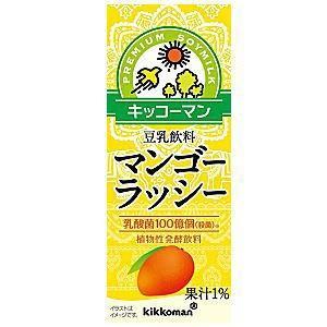 キッコーマン飲料 豆乳飲料 マンゴーラッシー 200ml紙パック 18本入 (植物性発酵飲料) pocket-cvs