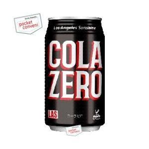 富永貿易 神戸居留地 Lasコーラゼロ 350ml缶 24本入 (cola zero)|pocket-cvs
