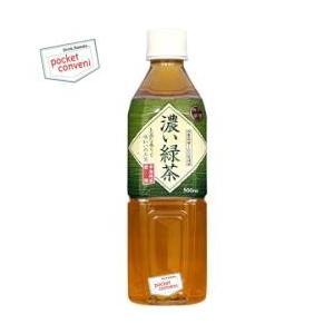 富永貿易 神戸茶房 濃い緑茶 500mlペットボトル 24本入|pocket-cvs