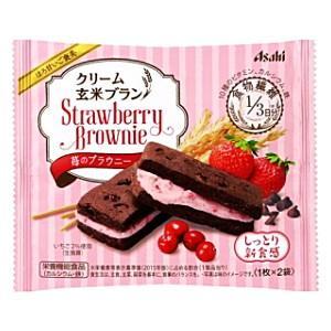 アサヒフード クリーム玄米ブラン 苺のブラウニー 70g×6個入|pocket-cvs