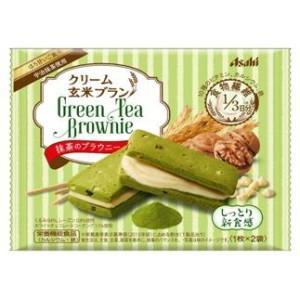 アサヒフード クリーム玄米ブラン 抹茶のブラウニー 70g×6個入