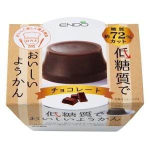 遠藤製餡 低糖質でおいしいようかん チョコレート 90g 6個入 (ようかん) pocket-cvs