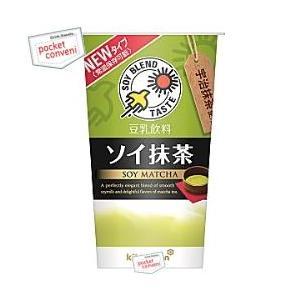 キッコーマン 豆乳飲料 ソイ抹茶 200mlカップ 12本入 (SOY)|pocket-cvs