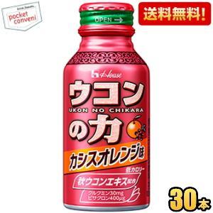 ハウスウェルネス ウコンの力 ウコンエキスドリンク カシスオレンジ味 100mlボトル缶 30本入 (栄養ドリンク) pocket-cvs