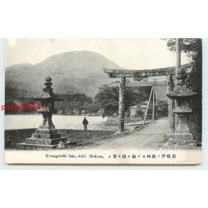 Xp1476神奈川 箱根 芦ノ湖 鳥居【絵葉書